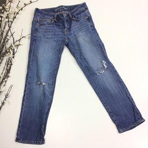 American Eagle Boy Fit Medium Wash Straight Jeans